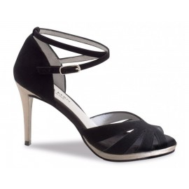 chaussure danse sportive femme WERNER KERN daim noir 910-80