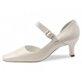 chaussure de mariée WERNER KERN CHANTELLE cuir perlato ivoire