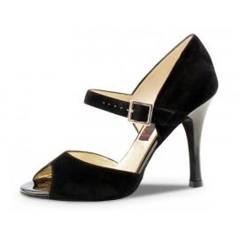 chaussure danse sportive femme WERNER KERN NORA chevreau velours noir