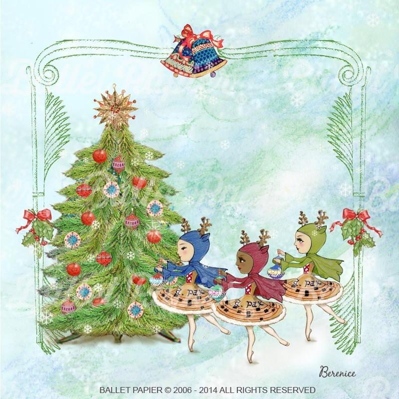 Pin Cartes De Voeux Papiers à Lettres Papeterie Pour Noël à ...