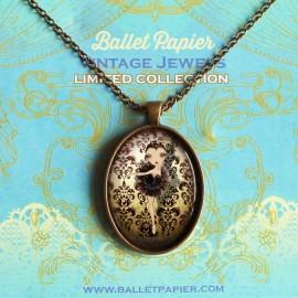 pendentif danseuse vintage BALLET PAPIER