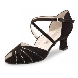 chaussure danse salon femme WERNER KERN SONIA daim noir