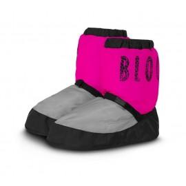 Bottes de chauffe danse BLOCH IM009T GRIS CLAIR-ROSE FLUO