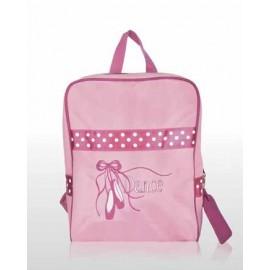 sac de danse SASSI sac à dos rose chaussons brodés