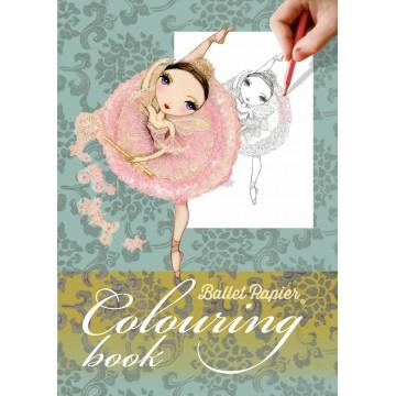 cahier coloriage BALLET PAPIER danse classique
