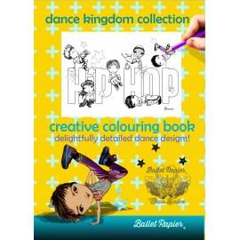 cahier coloriage BALLET PAPIER hip-hop