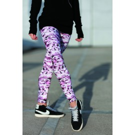 leggings FOREVER B chaussons rose