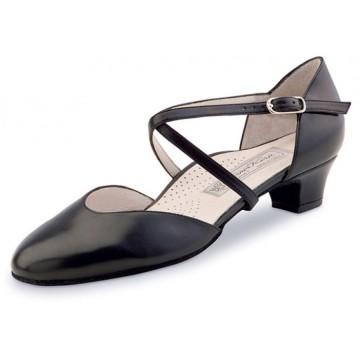 Chaussures de danse de salon WERNER KERN FELICE FEMME daim damier noir