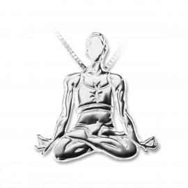 pendentif yoga MIKELART PADMASANA Le Lotus