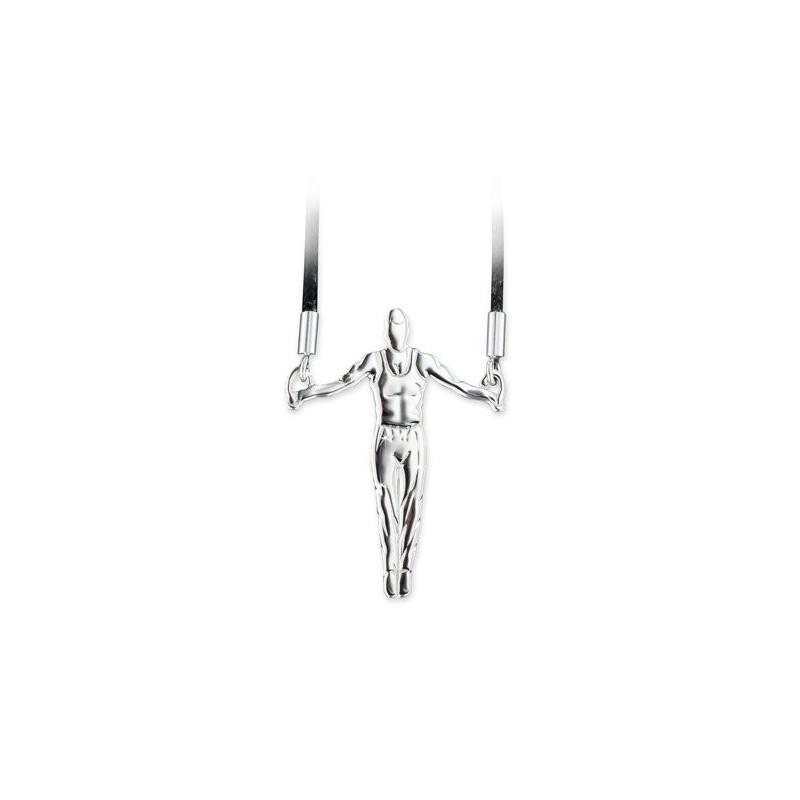 pendentif gymnaste MIKELART CROIX AUX ANNEAUX