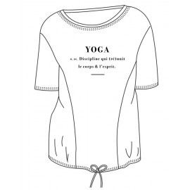 tee-shirt  yoga TEMPS DANSE ARKADIA DEFINITION