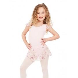 tunique danse enfant CAPEZIO 11627C SHOOTING STAR FLUTTER SLEEVE DRESS
