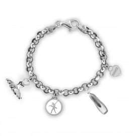 bracelet danseuse MIKELART 4 CHARMS