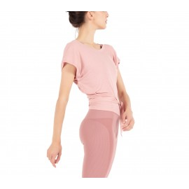 top REPETTO à nouer en modal W0623 rose blush