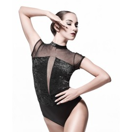 body velours NON POSSO, HO DANZA 0117 GRAND SOIREE noir