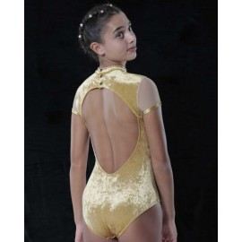 body velours NON POSSO, HO DANZA BO5 GRAND SOIREE gold