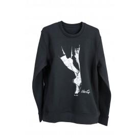 sweat LIKEG  LG-SW-18B Black Sweater