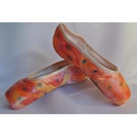 """chaussons de danse pointes décorés main SÈV """"SUN"""" sur Capezio Plié"""