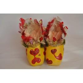 """chaussons de danse pointes décorés main SÈV """"OMBRE & LUMIERE"""" sur Merlet Mira"""