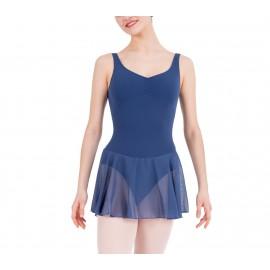 tunique danse classique  REPETTO D0763 fines bretelles adulte bleu nocturne