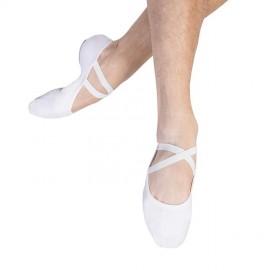chaussons de danse demi-pointes BLOCH PERFORMA toile white homme
