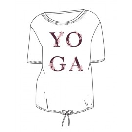 tee-shirt  yoga TEMPS DANSE AGATHE YOGA