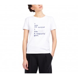t-shirt REPETTO I am a Repetto Girl blanc