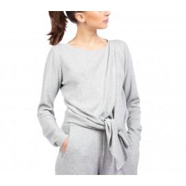 cache coeur en tricot REPETTO gris chiné clair adulte