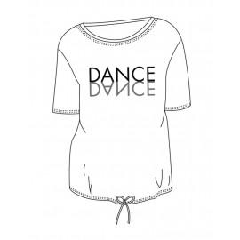 tee-shirt TEMPS DANSE AGATHE MIRROR