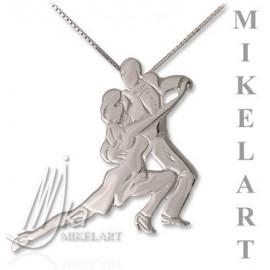 pendentif MIKELART danseurs de TANGO BLANC