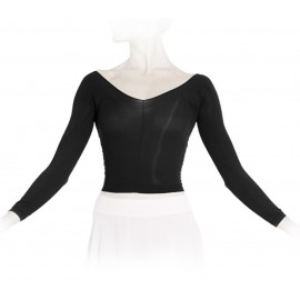 Top collant court REPETTO  manches longues noir