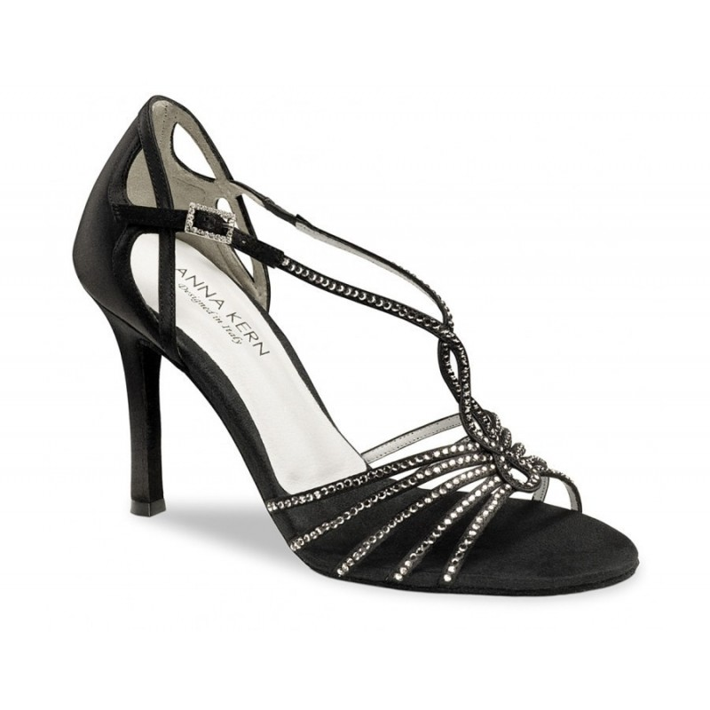 Chaussures de danse de salon werner kern femme satin noir for Chaussures de danse de salon toulouse