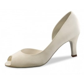 chaussure de mariée WERNER KERN VALERIE satin duchesse ivoire