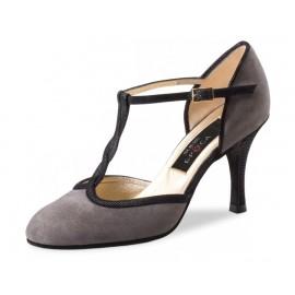 chaussure danse sportive femme WERNER KERN JOSEFINA daim gris