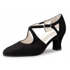 chaussure danse sportive femme WERNER KERN GALA chevreau velours NOIR
