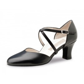 chaussure danse sportive femme WERNER KERN LAYLA agneau cuir nappa noir