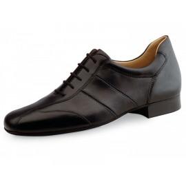 chaussure danse sportive homme WERNER KERN 28021 cuir nappa noir