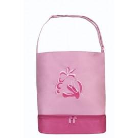 sac de danse SASSI shopper rose chaussons brodés