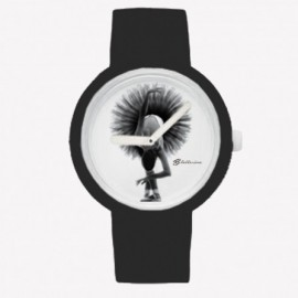 montre danseuse FOREVER B noir et blanc