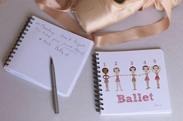 carnet de notes BALLET PAPIER - BODY LANGAGE 260a8603fa4