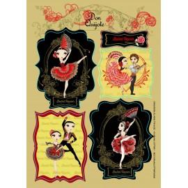 stickers vinyle BALLET PAPIER