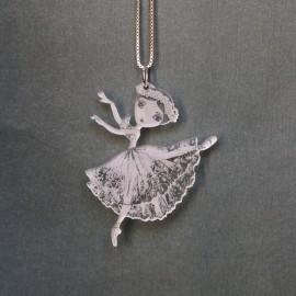 pendentif danseuse crystal acrylique BALLET PAPIER