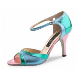 Chaussures de danse de salon WERNER KERN FLOR FEMME laminé vert ciel rose