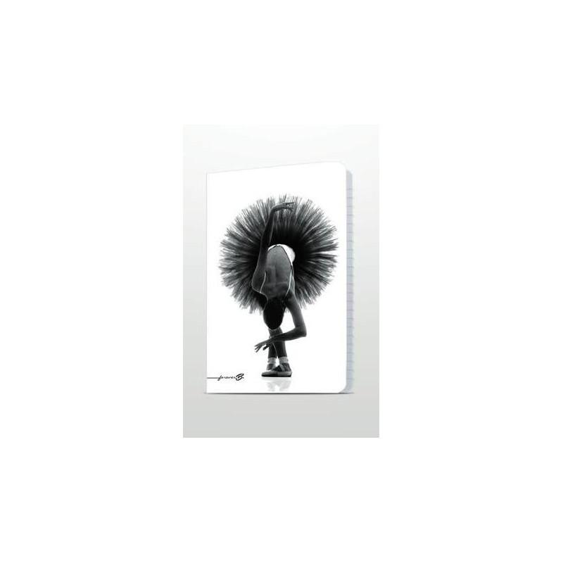 cahier A4 FOREVER B ballerine noir et blanc