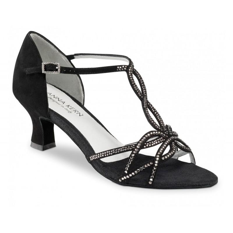 chaussures de danse de salon werner kern femme daim noir et strass body langage. Black Bedroom Furniture Sets. Home Design Ideas