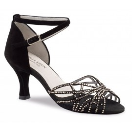 Chaussures de danse de salon WERNER KERN FEMME daim noir et strass