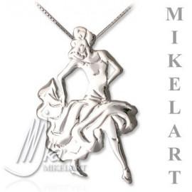 pendentif MIKELART danseuse de FLAMENCO JAUNE