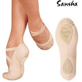 chaussons de danse demi-pointes SANSHA PRO1C rose pâle