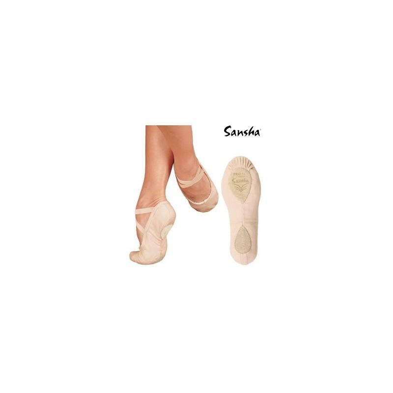 chaussons de danse demi pointes sansha pro1c rose p le. Black Bedroom Furniture Sets. Home Design Ideas
