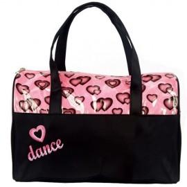 sac de danse DASHA DESIGNS Glittery Hearts Duffle